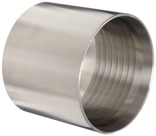 Dixon F32G-2656 Stainless Steel 304 Holedall Fitting Sanitary Crimp Ferrule 2-3864 to 2-4164 Hose OD 2 Hose ID