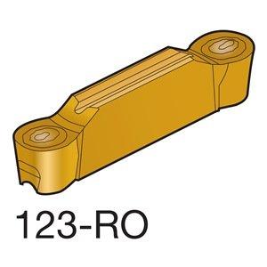 Sandvik Coromant CoroCut 2-Edge Carbide Profiling Insert H13A Grade Uncoated 2 Cutting Edges N123H2-0475-RO 00937 Corner Radius H Insert Seat Size Pack of 10