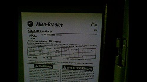 Allen Bradley 1494G-Gf3j6-98-414 Series 1 Enclosed Disconnect Switch 1494G-Gf3j6-98-414 Series 1