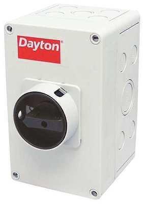 Dayton 32 Amp 600VAC Single Throw Enclosed Disconnect Switch 3P 35JF64