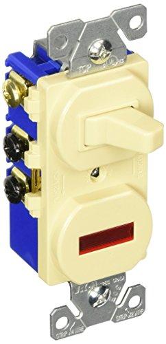 Eaton 294V 15 Amp 120V Combination 3-Way Switch Pilot Light Ivory