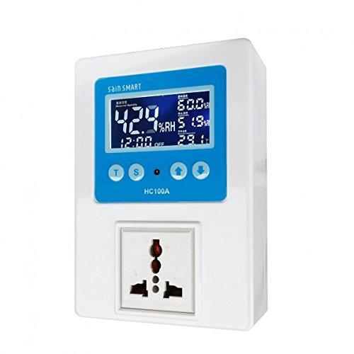 SainSmart HC100A Digital Humidity Controller humidistat AC110V-240V 1 Relay with Sensor LCD Colour Display
