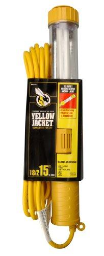 Yellow Jacket 38046 182 SJTW 13-watt Fluorescent Work Light with Outlet 15-Feet