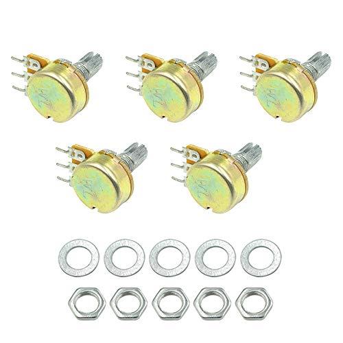 HONJIE WH148 100K ohm 3P Rotary Linear Taper Potentiometers Knob - 10 Pcs