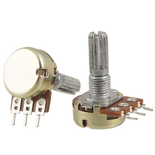 uxcell 2 Pcs B5K 5K ohm 3 Terminals Single Linear Taper Potentiometers