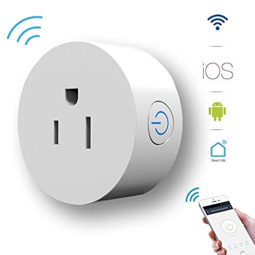 Smart Socket Alexa Plug Energy Monitoring GoKlug Wifi Outlet Plug Google Home Smart Outlets that work with Google Home Alexa Wifi Plug Monitoring Wifi Outlet Timer Switch Smart Plug Alexa No Hub