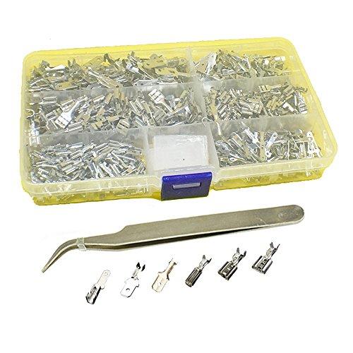 600pcs 28mm 48mm 63mm Male Female Spade Crimp Terminals Assortment Set Kit