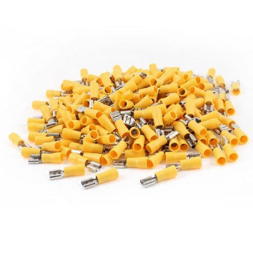 Uxcell FDD55-250 Pre Insulated Spade Crimp Terminals for AWG 12-10 500 Pieces