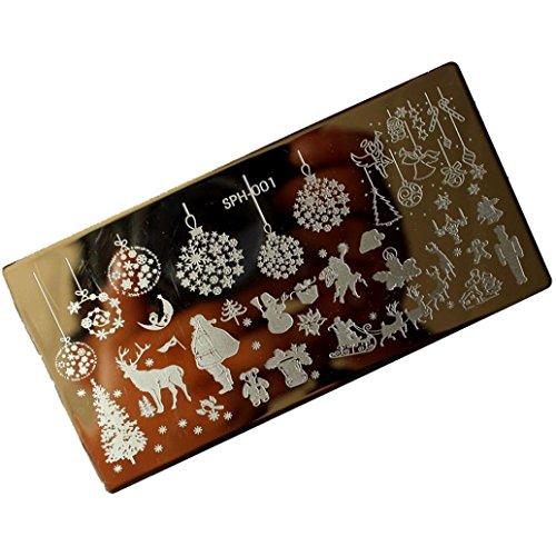 Nail ArtPutars Fashion Christmas DIY Nail Art Image Stamp Stamping Plates Manicure Template A