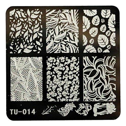Nail ArtPutars Fashion DIY Nail Art Image Stamp Stamping Plates Manicure Template