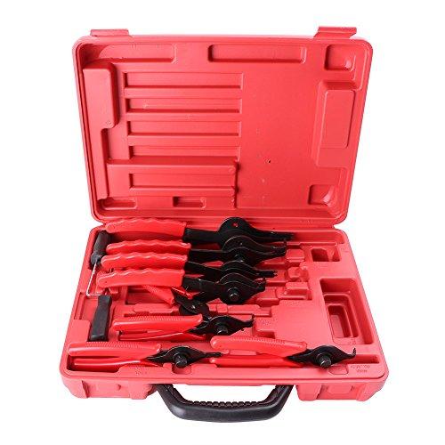 GZYF 11pcs Snap Ring Pliers Set Mechanics Circlips Auto Tool Internal External Pliers
