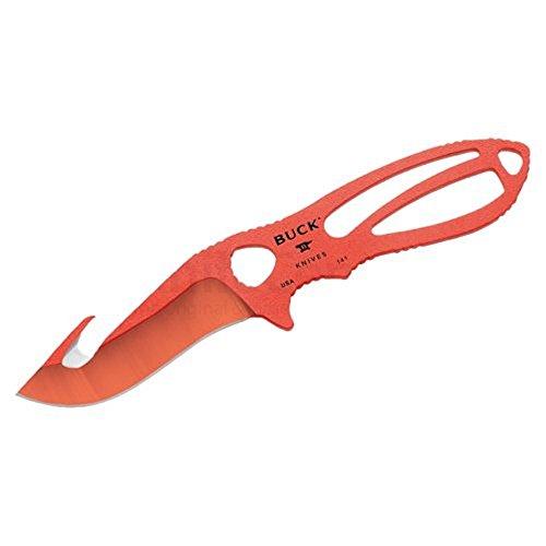 Buck 0141ORG-B PakLite Skinner Gut Hook Fixed Blade Knife Large Orange