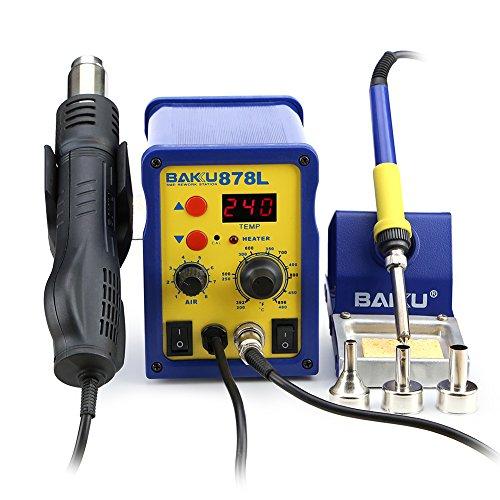 BAKU BK-878L 110V 2 in 1 LED Digital Soldering Station Hot Air Rework Station Mobile Phone Repair Tools BK-878L