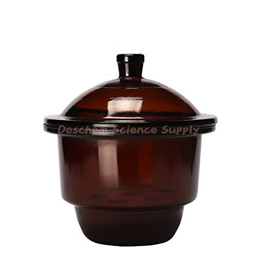 Deschem 240mmAmber BrownGlass Desiccator JarDessicator DryerLab Glassware