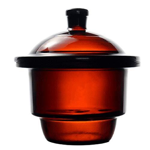 KimLab 240mm  95 Amber Glass Desiccator Jar Lab Dessicator Dryer with Porcelain Plate