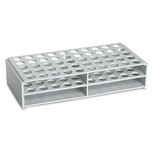 Plastic Test Tube Rack for 16mm Tubes ABS Material White Karter Scientific 208X2 Single