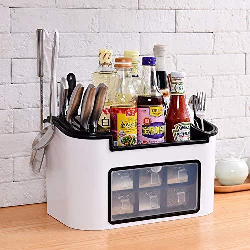 Kitchen condiment box set salt and sugar condiment receiving box combination condiment pot bottle shelfF