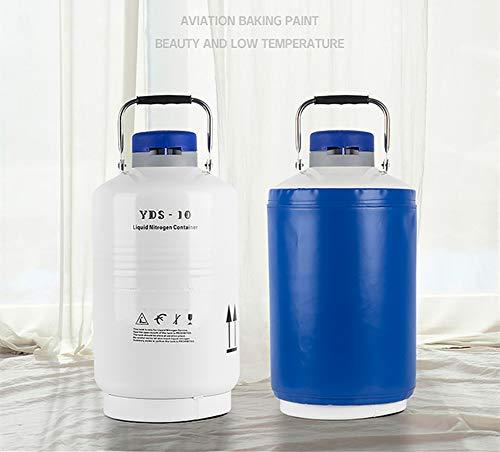 Lab Cryogenic Container Liquid Nitrogen LN2 Tank Dewar YDS-10L