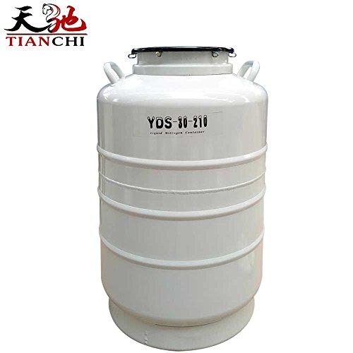 TIANCHI Liquid Nitrogen Container 30 Liter 30L 210 mm Diameter Cryogenic Dewar Cylinder with Cover