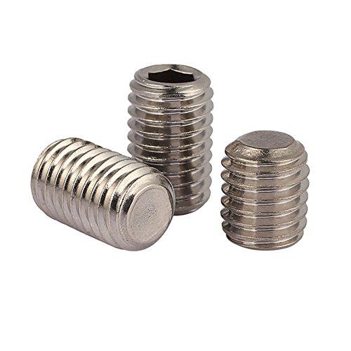 50pcslot M33mm A2 Stainless Steel Flat Point Grub Hex Socket Set Screws Metric DIN913 M3 x 8mm