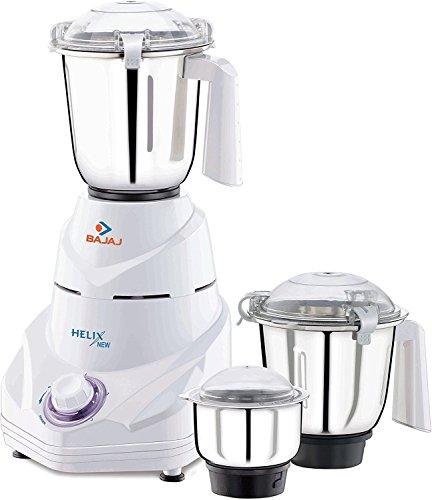 Bajaj Helix 750-Watt Mixer grinder with 3 Jars White