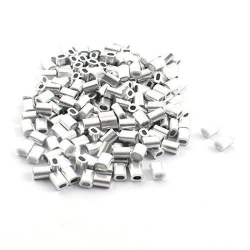 200PCS 1mm Steel Cables Aluminium Wire Rope Ferrules 5mm x 2mm