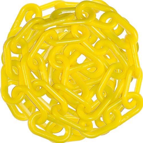 Mr Chain 51002-50 Heavy Duty Plastic Barrier Chain 2 50 Yellow