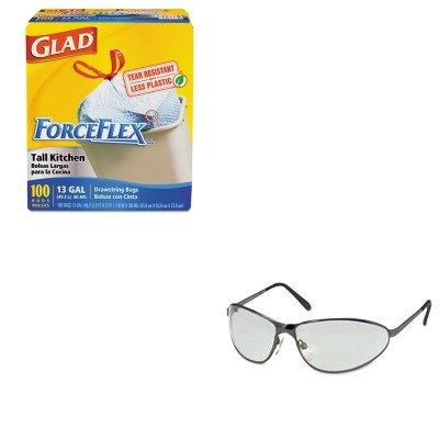 KITCOX70427UVXS2451 - Value Kit - Uvex Tomcat Safety Glasses UVXS2451 and Glad ForceFlex Tall-Kitchen Drawstring Bags COX70427