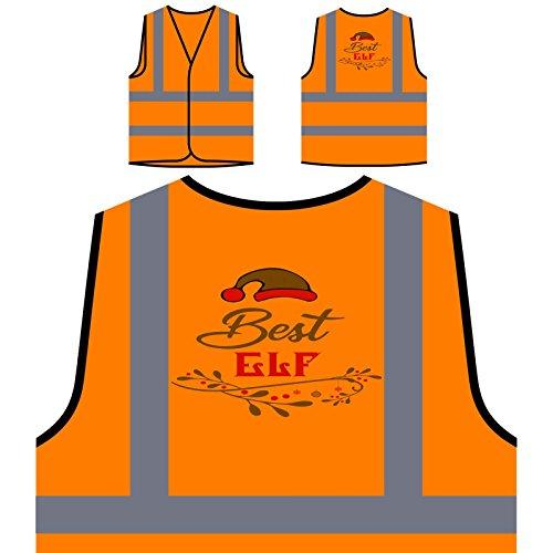 Best Elf Personalized Hi Visibility Orange Safety Jacket Vest Waistcoat t852vo
