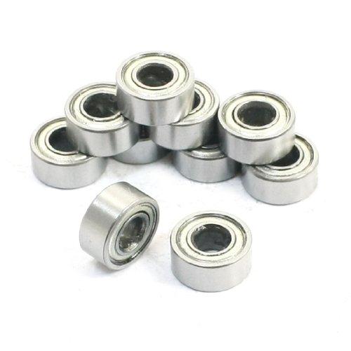 10Pcs 4 x 9 x 4mm Metal Shields Deep Groove Radial Ball Bearings 684ZZ