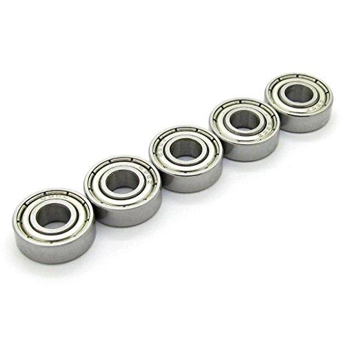 6x15x5 mm Skateboard Bearings Steel Miniature Deep Groove Ball Bearing 696Z 696ZZ 6196 R-1560ZZ for Model 10 PCS Skateboard Bearings