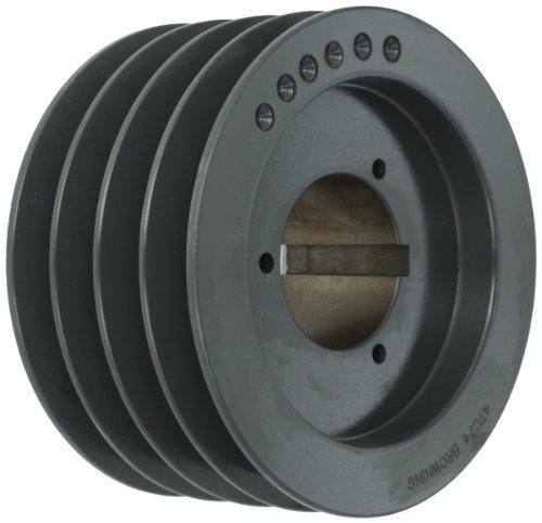 Browning 4TC74 Split Taper Sheave Cast Iron 4 Groove C Belt Uses Q2 Bushing