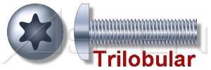 7000 pcs M3 X 12mm DIN 7500-CE Trilobular Thread-Rolling Screws Metric Standard Fasteners Pan 6-Lobe Drive Full Thread Steel Zinc Plated and Waxed