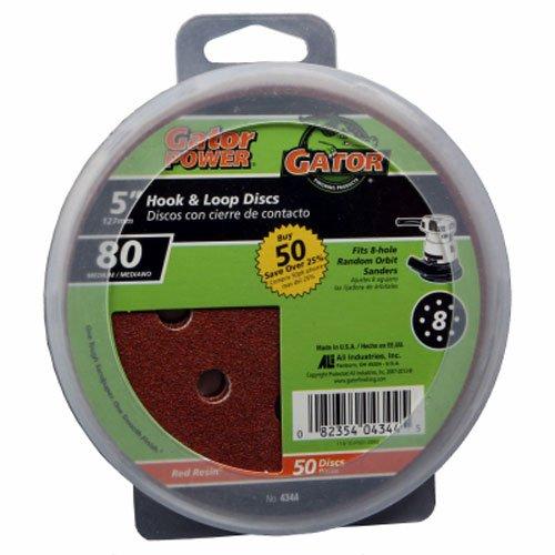 Gator Finishing 4344 80 Grit Aluminum Oxide Sanding Discs 50 pack 5