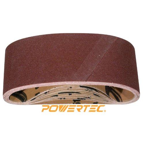 POWERTEC 110090 4-Inch x 24-Inch 80 Grit Aluminum Oxide Sanding Belt 10PK