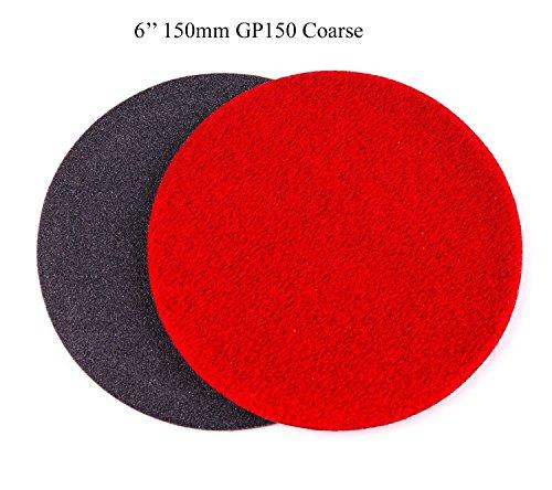 6 inch 150mm GP150 Abrasive Disc for Glass Scratch Repair COARSE GRADE pack of 10 discs