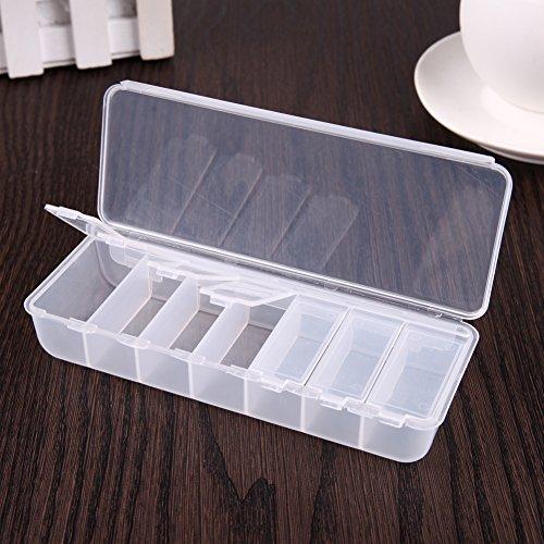 PyracinTM Large Pill Box Organizer Travel Folding Drug Divider Storage Case Container medicineTrans