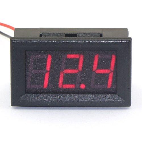 SMAKN 2 Wires Red Dc 7-150v LED Panel Digital Display Voltage Meter