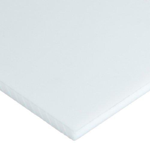 PTFE Polytetrafluoroethylene Sheet Opaque White Standard Tolerance AMS 3651C 12 Thickness 12 Width 12 Length