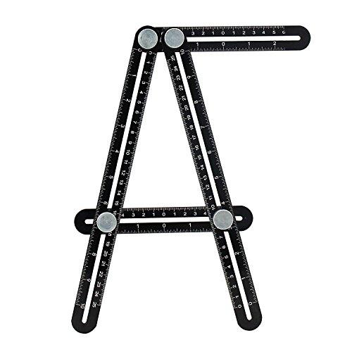 Multi Angle Measuring Ruler- Premium Aluminum Alloy Angle-izer Template Tool Multi Angle Template Measurement Tool for Handymen Builders Craftsmen Hanging Tile Laying FloorsCutting Stone