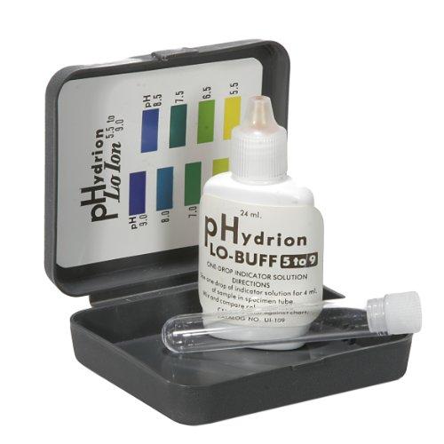 Micro Essential Lab UI-109 Hydrion Short pH Indicator Solution Kit 50 to 90 pH Range