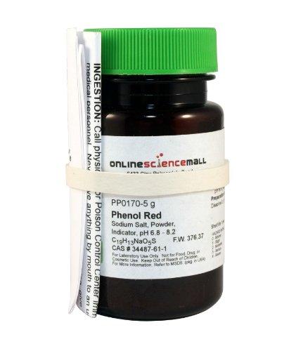 Phenol Red pH Indicator Powder 5g