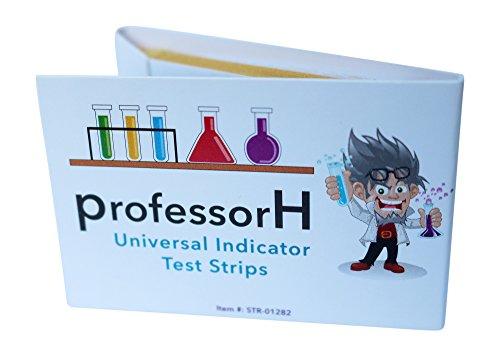 Professor H Litmus pH Test Strips pH 1-14 Universal Indicator 2 Packs of 100 Strips