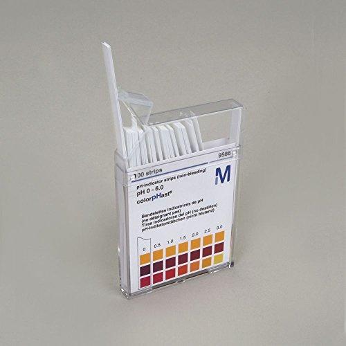 Universal pH Indicator Strips Range 0-6 Pack of 100