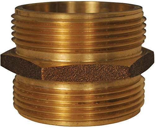 Dixon DMH4040T 4 MNPT x 4 MNPT Brass DBL Male Hex Nipple 4 ID Cast Brass