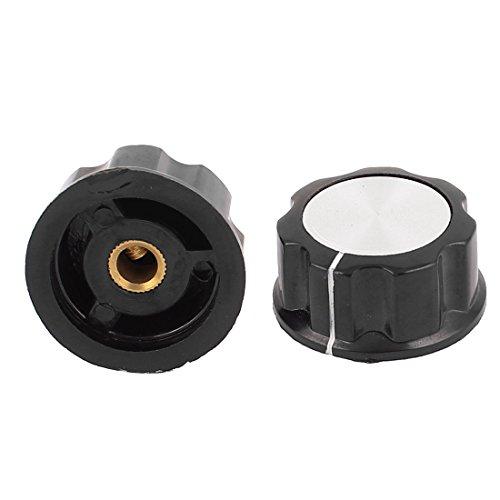 2Pcs 6mm Shaft Hole Audio Volume Control Potentiometer Rotary Knob