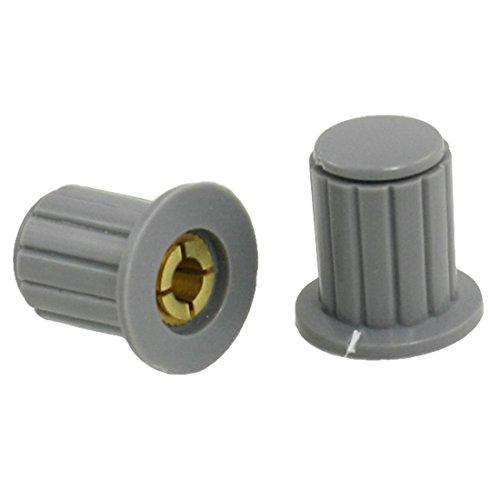 SODIAL 5 pieces 4 mm 1351 cm Volume Control Potentiometer split-shaft handles gray