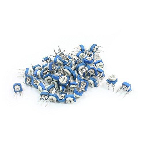 uxcell 55Pcs 200-500K Ohm 3 Pin DIP Volume Control Potentiometer Pot Resistor