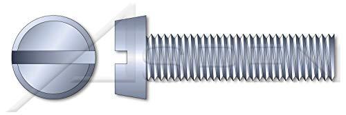 2700 pcs M2-04 X 4mm DIN 84  ISO 1207 Metric Machine Screws Cheese Head Slot Drive Full Thread Class 48 Steel Zinc Plated