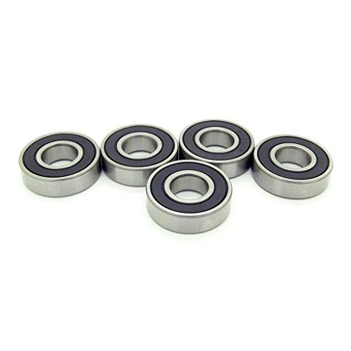 12mm 28mm 8mm 6001RS Miniature Rubber Sealed Ball Bearings 6001-2RS Rolling Bearings 5PCS Skateboard Bearings